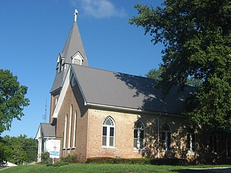 Albion, Illinois - St. John's Episcopal Church, a local landmark