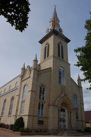 National Register of Historic Places listings in Osage County, Missouri - Image: St. Joseph Church, Westphalia