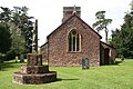 St John the Baptist's Church and medieval cross at Heathfield, Somerset.jpg