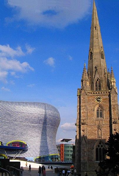 File:St Martins church and Bullring -Birmingham -England.jpg