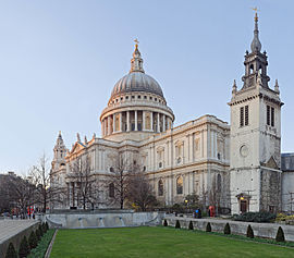 St Paul's Cathedral, London, England - Jan 2010 tower adjusted 2.jpg