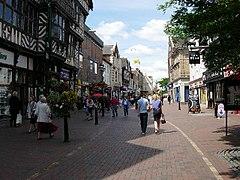 photographie du centre-ville de Stafford
