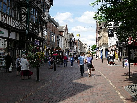 Stafford, the constituency Cameron contested in 1997 Stafford town centre.jpg