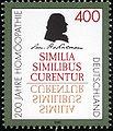 Stamp Germany 1996 Briefmarke Homöopathie Samuel Hahnemann.jpg