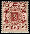 Stamp of Finland - 1875 - Colnect 45641 - Coat of Arms Type m-75 Copenhagen Printing.jpeg