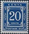 Stamp of Kenya - 1967 - Postage due - 20 cents.jpeg