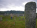 Standing stone and cemetery at Tarbert - geograph.org.uk - 1424699.jpg