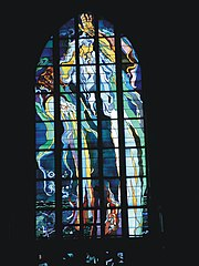 Stained-glass window in Franciscan Church, designed by Wyspiański