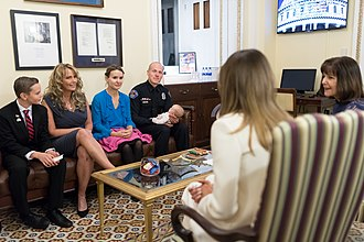 2018 State of the Union Address - Melania Trump and Karen Pence with invited guests prior to the address