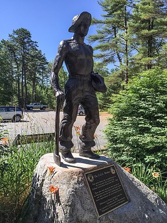 Freetown-Fall River State Forest - Statue of the C.C.C. Worker