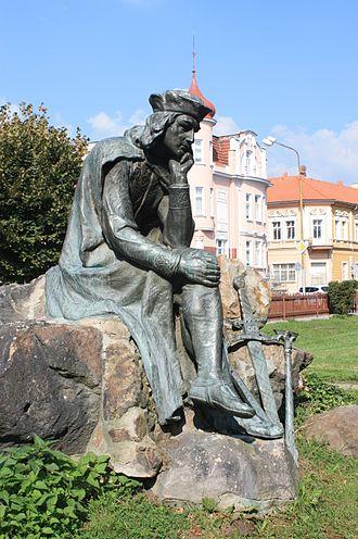 Walther von der Vogelweide - Statue of Walther von der Vogelweide by Heinrich Scholz, Northern Bohemia