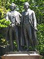 Statues of Goethe and Schiller-Golden gate Park-San Francisco.jpg