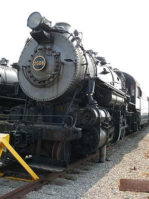 Pennsylvania Railroad class H8 - Image: Steamtrain PRR H10 7688