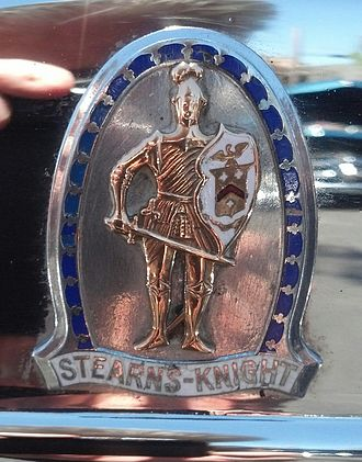 Stearns-Knight - Badge on a 1929 Stearns-Knight.