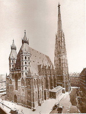 St. Stephen's Cathedral of Vienna around 1905.