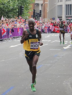 Stephen Mokoka (South Africa) - London 2012 Mens Marathon.jpg