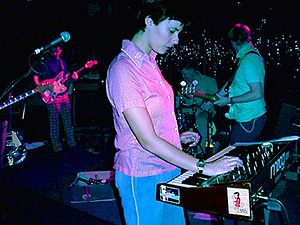 Stereolab live in concert.