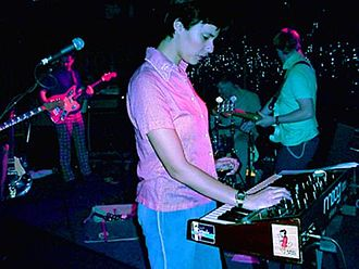 Stereolab - Lætitia Sadier playing on a Moog synthesizer