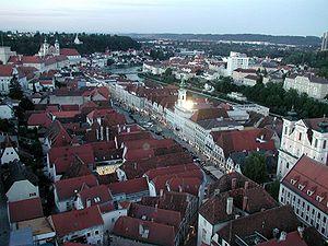 Die Altstadt von Steyr vom Turm der Stadtpfarr...