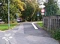 Stezka v prodloužení ulice Zeyerova alej, od ulice Na klášterním.jpg