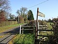 Stile and footpath sign - geograph.org.uk - 605288.jpg