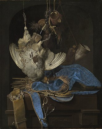 Willem van Aelst - Still-Life with Hunting Equipment and Dead Birds by Willem van Aelst