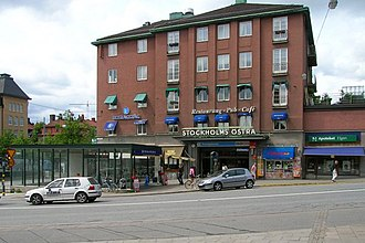 Stockholm East Station - The Drottning Kristinas Väg entrance to the station
