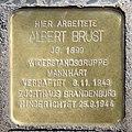 Stolperstein Berliner Str 26 (Tegel) Albert Brust.jpg