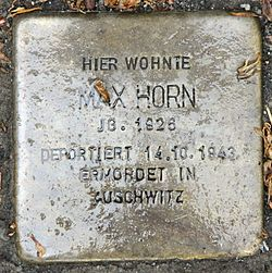 Photo of Max Horn brass plaque