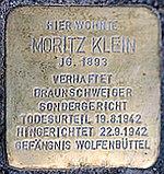 Stolperstein Helmstedt Moritz Klein (derived)