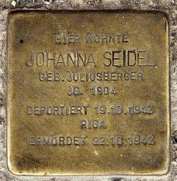 Photo of Johanna Seidel brass plaque