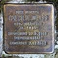 Stolperstein Kleiststr 12 (Zehld) Caecilie Weiss.jpg