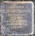 Stolperstein Schillerstr 14 (Charl) Ilse Kunz-Krause.jpg