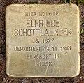 Stolperstein Wilhelm-Hauff-Str 19 (Fried) Elfriede Schottlaender.jpg
