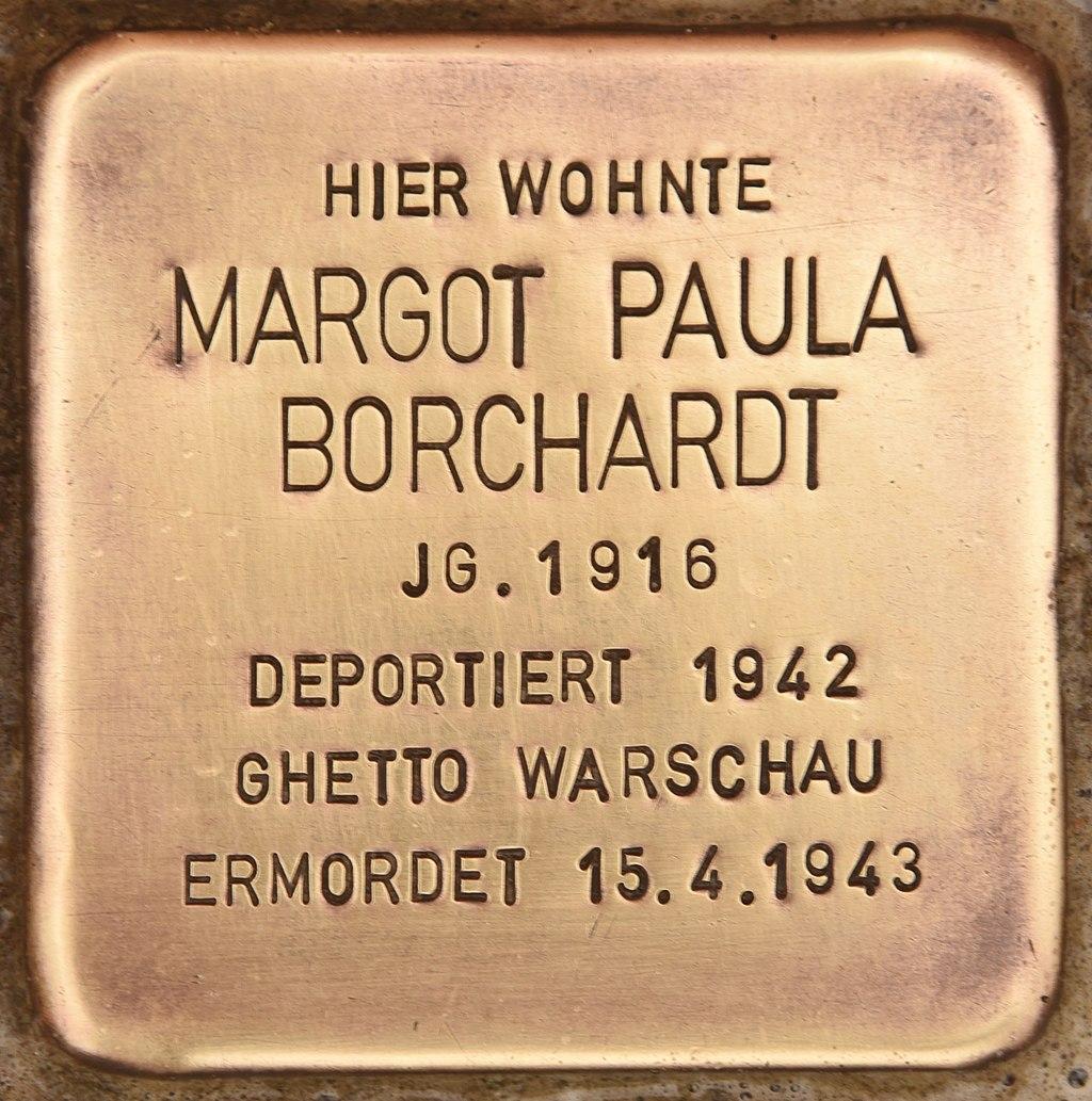Stolperstein für Margot Paula Borchardt (Kremmen).jpg