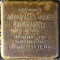 Stolpersteine Köln, Aron Alexander Blumenfeld (Lübecker Straße 25).jpg