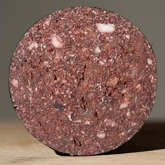 Black pudding - Cross section of a Stornoway black pudding
