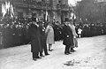 Strasbourg, 20-11-21, M. Barthou passant en revue des troupes (à côté de lui, le) général de Boissieu (et, en retrait, M.) Alapetite (et) le général (Léon) Durand - (photographie de presse) - (Agence Rol).jpg