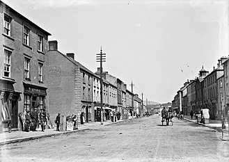 Gorey - Shops on Gorey Main Street, c.1920s