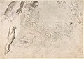 Studies of Three Naked Men, a Right Arm and a Nude Figure Supported by Another (recto); Studies of a Figure with Left Arm Upraised, a Leg, and Putti with Foliage (verso) MET DP801494.jpg