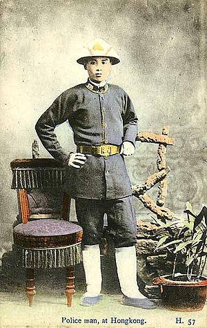 History of Hong Kong Police - Hong Kong police officer, early 20th century.