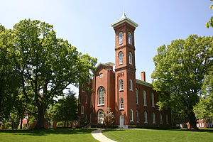 Illinois College - Sturtevant Hall photographed from the upper quad.