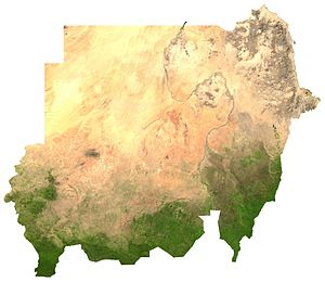 Satellite image of Sudan, generated from raste...
