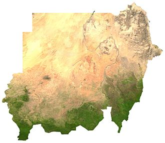 Food power - Satellite image of Sudan