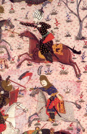 Battle of Albulena - Detail of a miniature, showing two leaders of the Akıncı in the Battle of Mohács, 1526