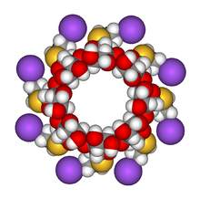 Sugammadex sodium 3D front view.png