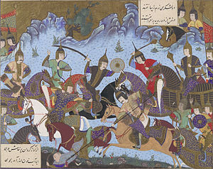 Sukhra's Hephthalite campaign - Sukhra fighting the Hephthalites in the Shahnameh.