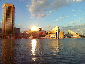 Baltimore metropolitan area - Image: Sunset@Baltimore II