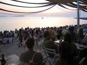 Sunset at Cafe del Mar, Sant Antoni de Portmany (Ibiza) (190294471)