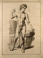 Superficial anatomy of the man. Engraving by G. Scotin Wellcome V0008377.jpg